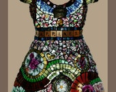 notecards (12) of my Mosaic Dresses, blank inside-GIFT