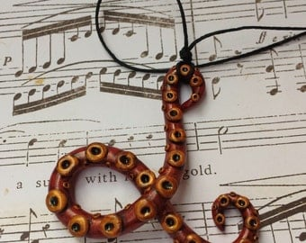 SALE 30% OFF- Personalized Polymer Clay Tentacle Necklace
