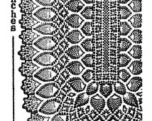 Vintage Crochet pattern 505 Pineapple Tablecloth oblong 52x70 or 54x80 inches 1960s PDF instant download