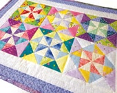 Colorful Pinwheels Doll Quilt