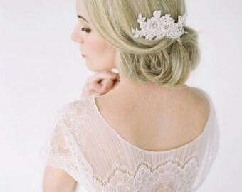 RUBY Bridal Headpiece, Lace Hair Comb, Vintage Lace Headpiece