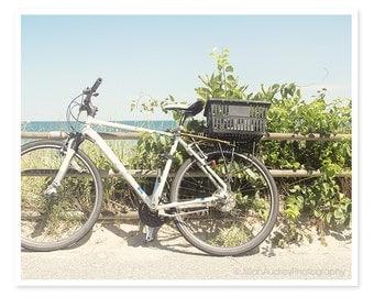Bicycle Art, Bicycle Print, Bike Photography, Bech Photography, Soft Dreamy, Seaside Photo, Summertime, Martha's Vineyard, Coastal Art,