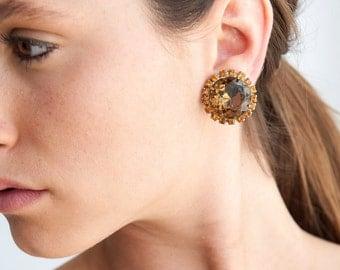The Amber Circle Earrings