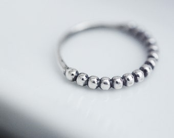 Crazy love...solid sterling silver bead band