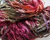 Party, Hand dyed ribbon yarn - Forest Fire, nylon 395 yds