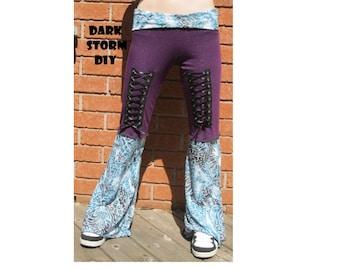 SALE Women's Corset Pants DIY Yoga Hippie Gypsy Pixie