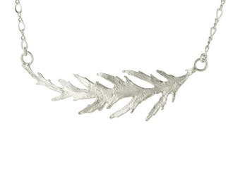 Sterling Silver Japanese Maple Leaf Pendant Necklace