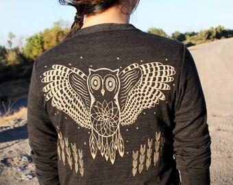 Owl Cardigan - Tri Black