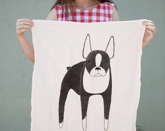 Boston Terrier Tea Towel, Dog Tea Towel, Terrier Dishcloth, Dog Kitchen Towel, Boston Dishcloth, Dog Lover Decor, Dog Lover Kitchen Towel