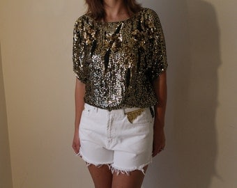 High Waisted studded denim shorts -White