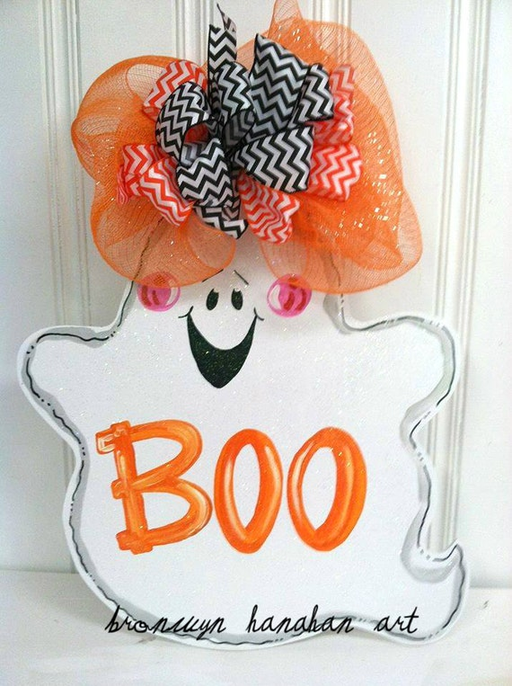 Boo to You Door Hanger - Bronwyn Hanahan Art