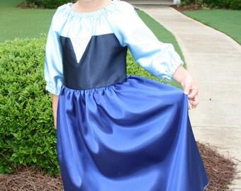 Ariel Blue Dress Kiss the Girl Style