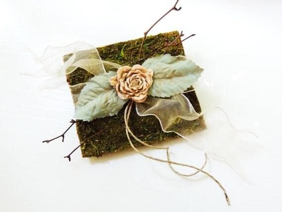 moss ring bearer pillow alternative personalized wedding ring