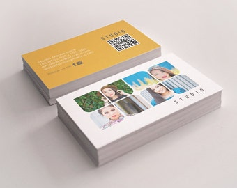 Studio double sided business card  - Instant download