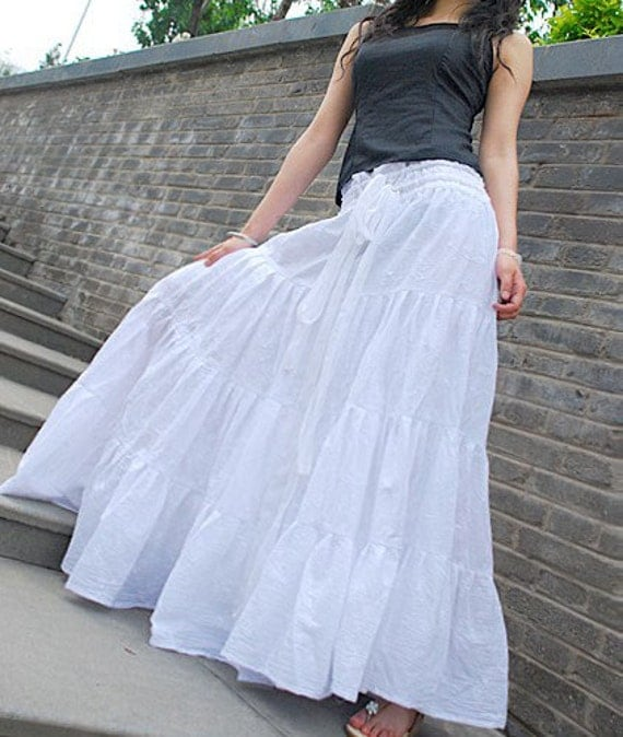 Long white skirts for ladies – Modern skirts blog for you