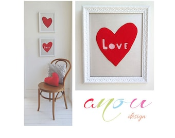 """Heart wall Art, """" The Symbolic Heart"""", Canvas 10 x 12 inch **MADE TO ORDER**"""