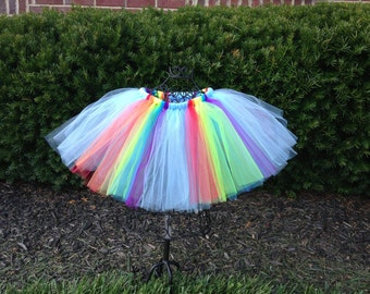 Rainbow Dash Tutu--- My Little Pony Birthday Tutu--- My Little Pony Tutu- Rainbow Tutu- Rainbow Dash Costume