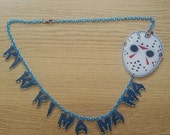 Jason Voorhees friday the 13th mask necklace