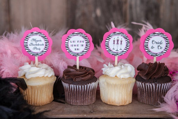 Items Similar To Bachelorette Party Cupcake Toppers