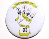 Music Lady Gaga Fan Pin Buttons Little Monsters Pinback Badges Magnet ARTPOP Fame Monster Born This Way Illustration Original