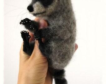 Ooak Needle Felted Baby Raccoon