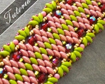 Lacy Beaded Bracelet Tutorial, Super Duo Bead Pattern,  Step by Step with Detailed Diagrams. Czarina