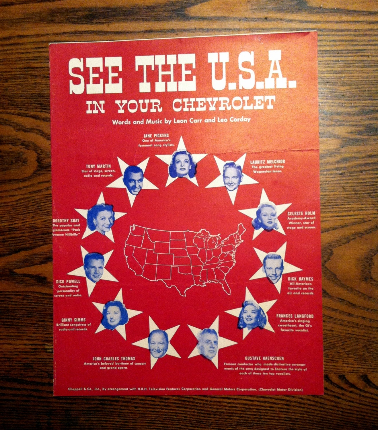 vintage sheet music see the usa in your chevrolet 1950. Cars Review. Best American Auto & Cars Review
