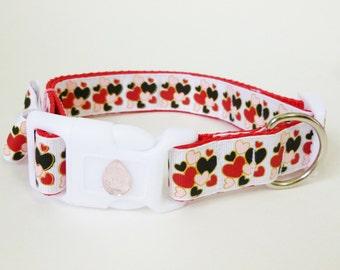 Dog Collar Valentines Hearts