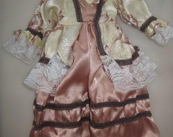 DOLL CLOTHES Dress 1900's VINTAGE