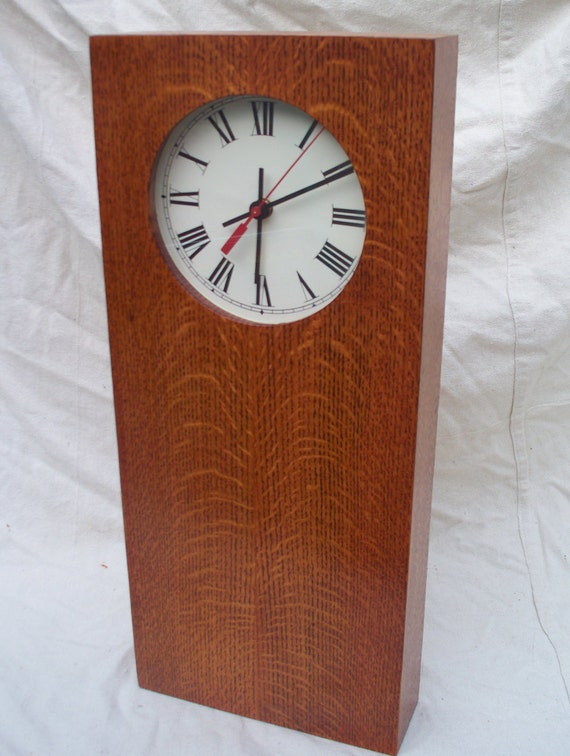 Items similar to arts crafts mission style shaker wall for Arts and crafts style wall clock