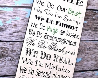 Vintage Typography Word Art, In Our Home Sign, In This Home We Do, We Do sign, House Rules, Family Rules, Lyrics, Music, Vows, Subway Roll.