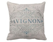 Pillow Cover French Grainsack Style Cotton and Burlap Pillow Cover