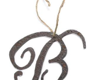 Personalized Monogram Letter Ornament Gift Custom Christmas Ornament