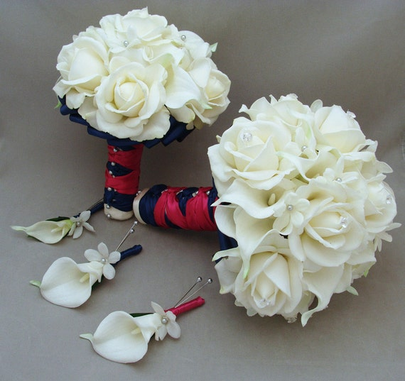 Reserved Wedding Flower Package Bridal Bouquet Stephanotis Real