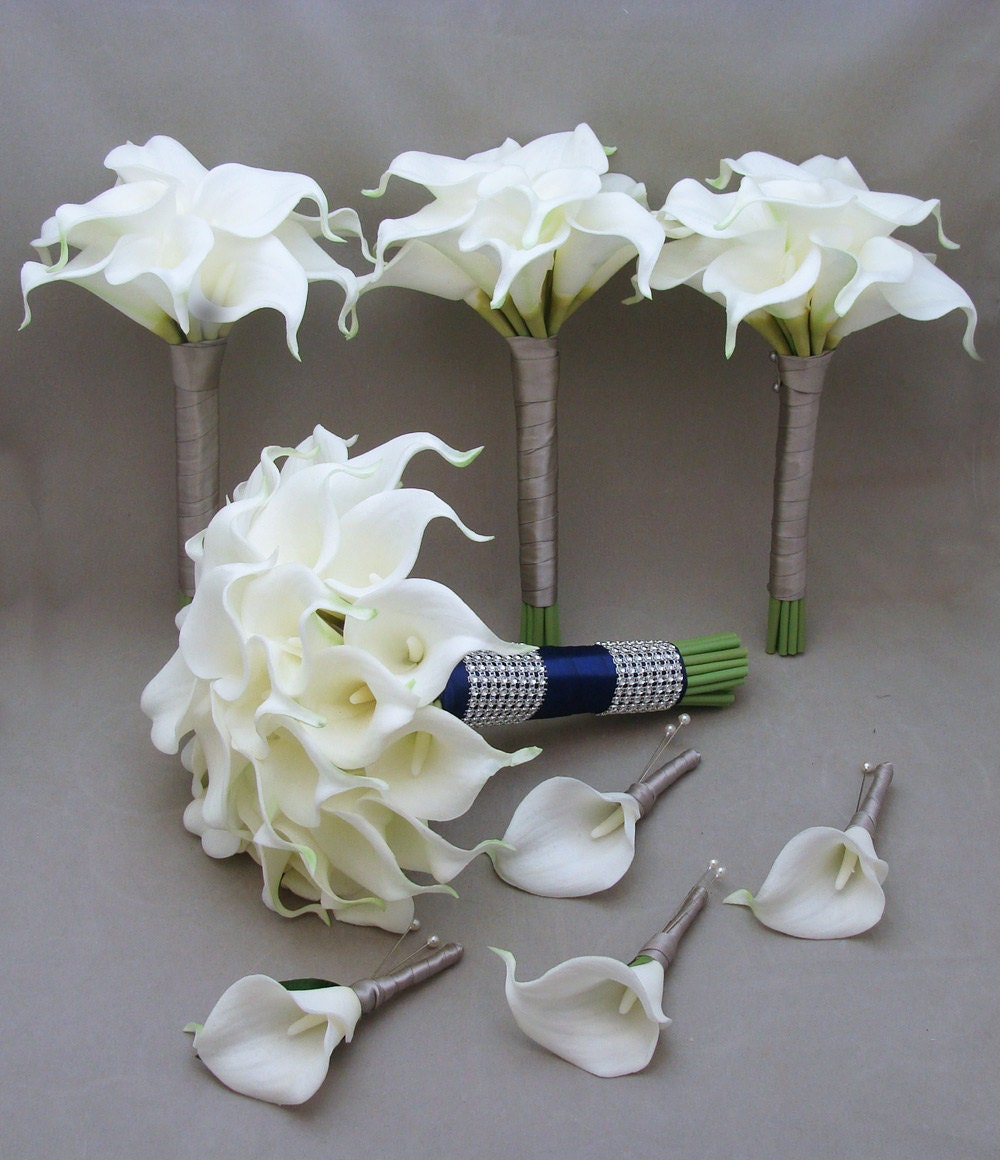 Reserved Wedding Flower Package Real Touch Callas Bridal
