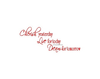 Live For Today Quotes Captivating Cherish Dream Live  Etsy