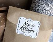 Custom Wedding Favor Stickers