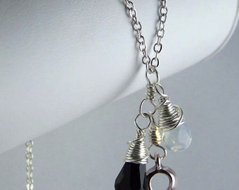 Black and White Awareness Necklace