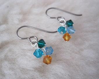 Customizable Niobium Earrings - My Bundles - Custom Birthstone Earrings - Hypoallergenic Earrings for Sensitive Ears / Nickel Free