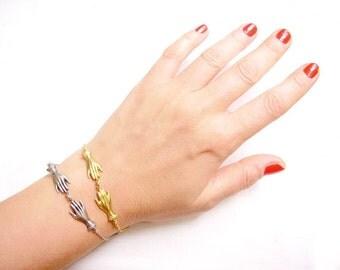 Hand Charm Bracelet, Palmistry Hamsa Bracelet, Chain Friendship Bracelet