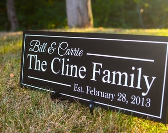 Personalized Family Established Sign Plaque Family Name Sign 7x20 Carved Engraved Wall Sign wedding or anniversary gift