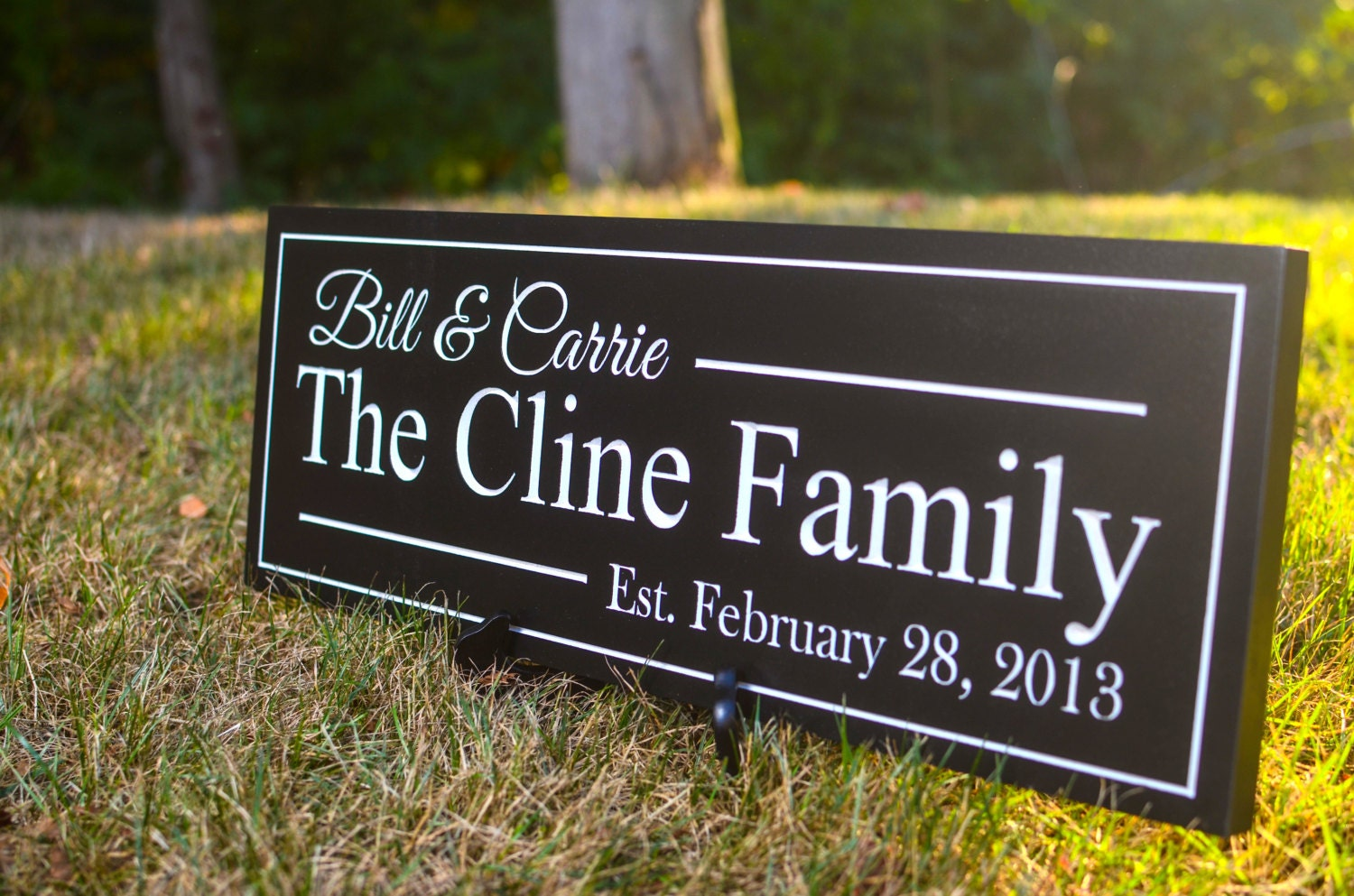 Personalized Family Established Sign Plaque Family Name Sign