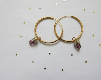 Swarovski Crystal Dangle Hoops -earrings