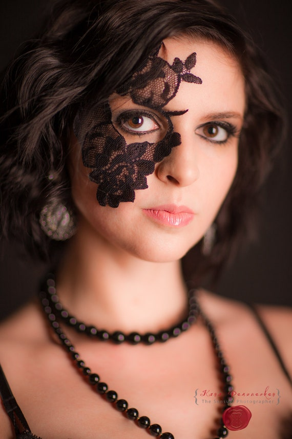 Masquerade Mask LaceTattoo for Halloween and Masquerade Balls