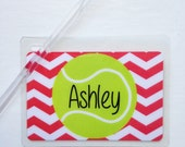 Tennis Bag Tag Tennis Ball Bag Tag Tennis Tag Tennis Team Gift Tennis Party Favor Chevron Bag Tag Tennis Coach Gift Tennis Team Bag Tag