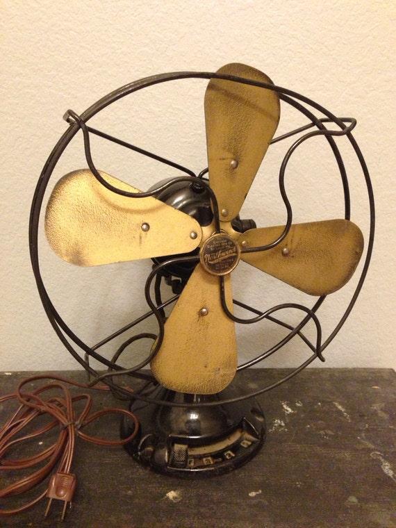 Antique Emerson Fans : Antique vintage emerson northwind electric cast iron black