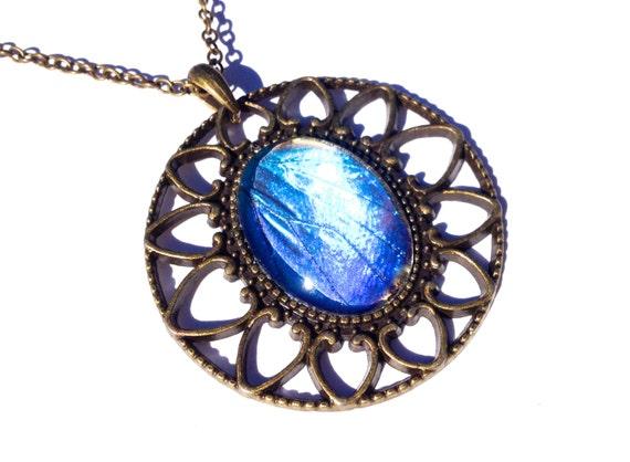 Blue Butterfly Jewelry: Real Blue Morpho Butterfly Wing Pendant By ChrysalisStudios