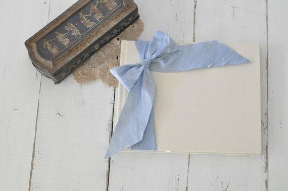 Wedding Book - Wedding Album Scrapbook - Silk Dupioni Bow by Claire Magnolia
