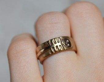 The Nature of Things Bronze Ring by Peg and Awl