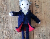 Doctor Who Peter Capaldi doll knitting pattern